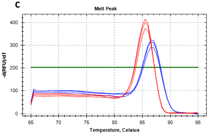 BlazeTaq RT-qPCR Melting Curves